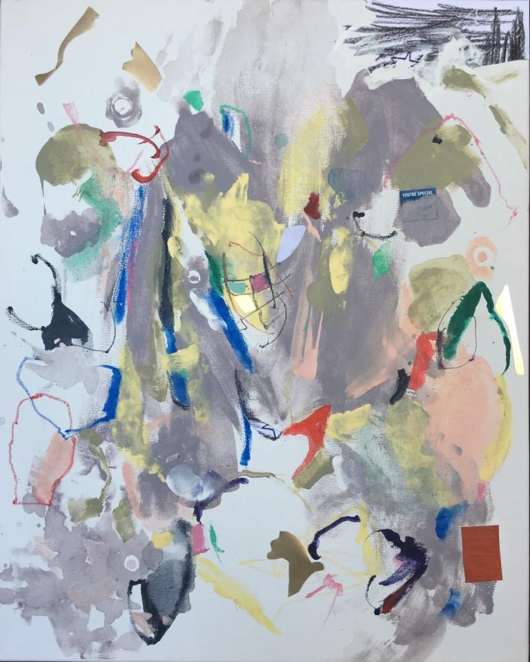 Matt-O-Rama, 2016, mixed media on canvas, 16x20%22